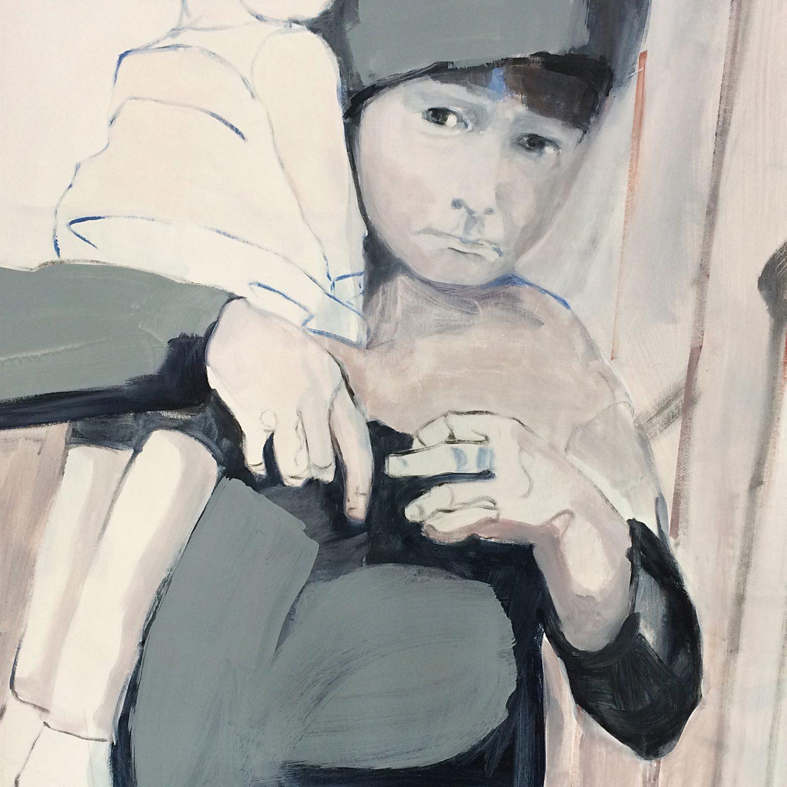 Doll 70x70 cm acrylics on canvas