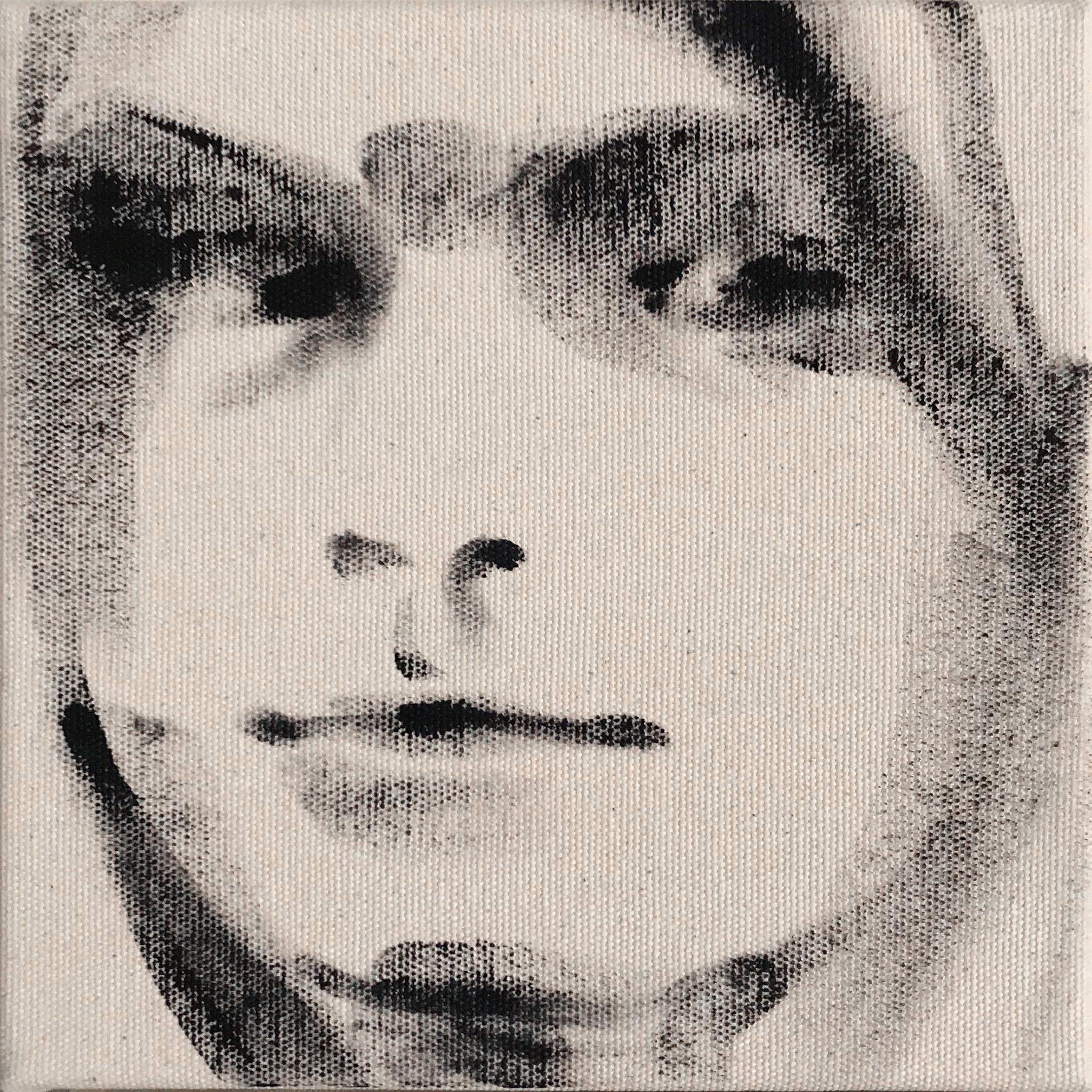 Kat 15x15 cm acrylics on canvas #SOLD