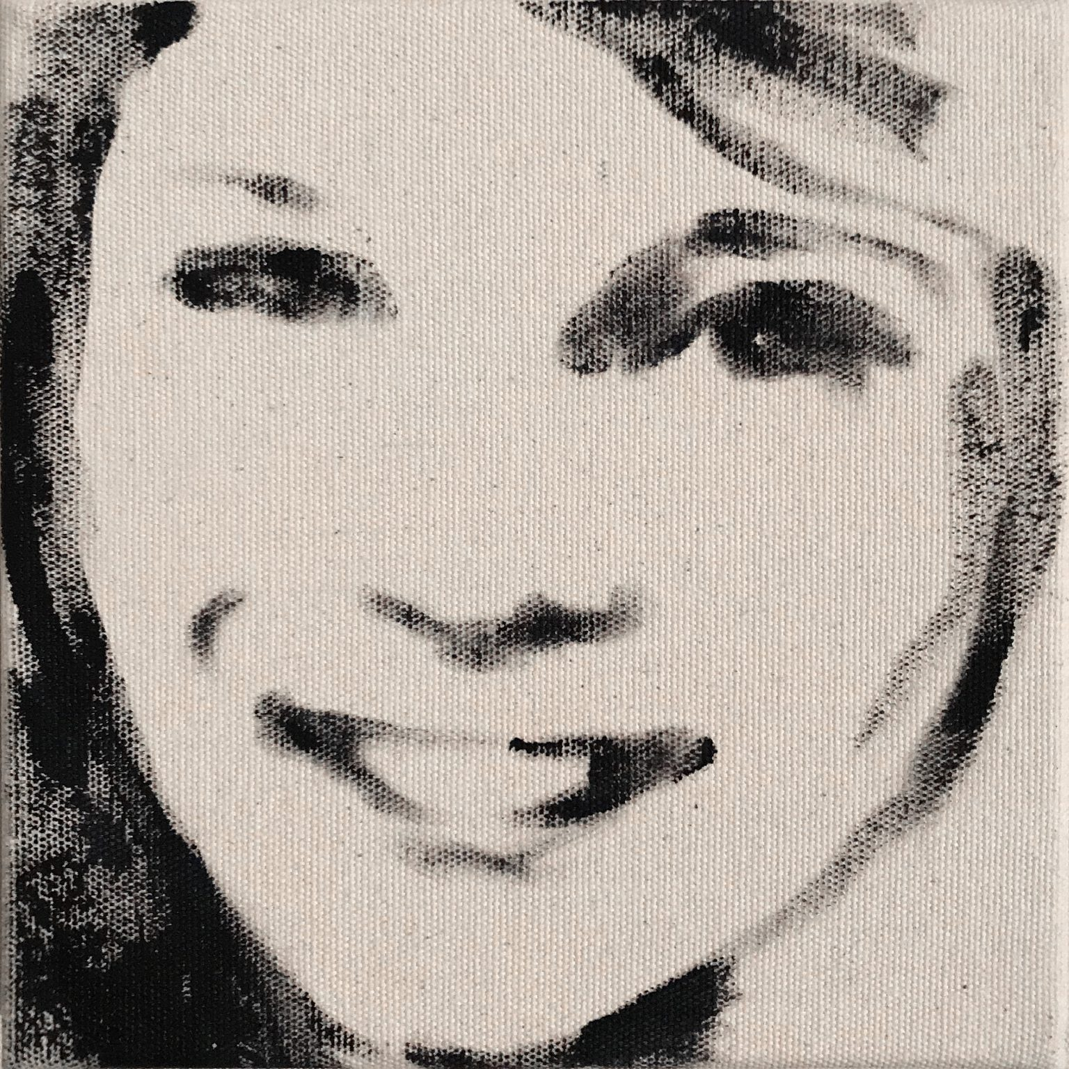 Kate 15x15 cm acrylics on canvas