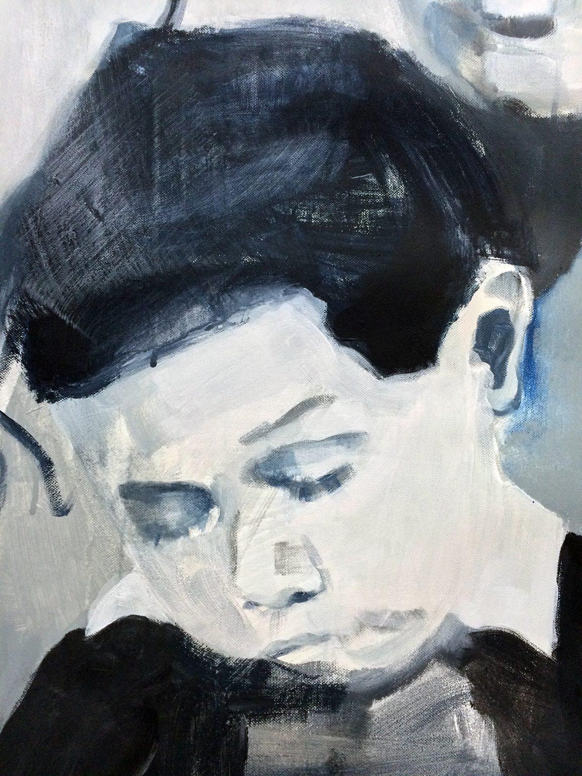 Claude 38x52 cm acrylics on canvas