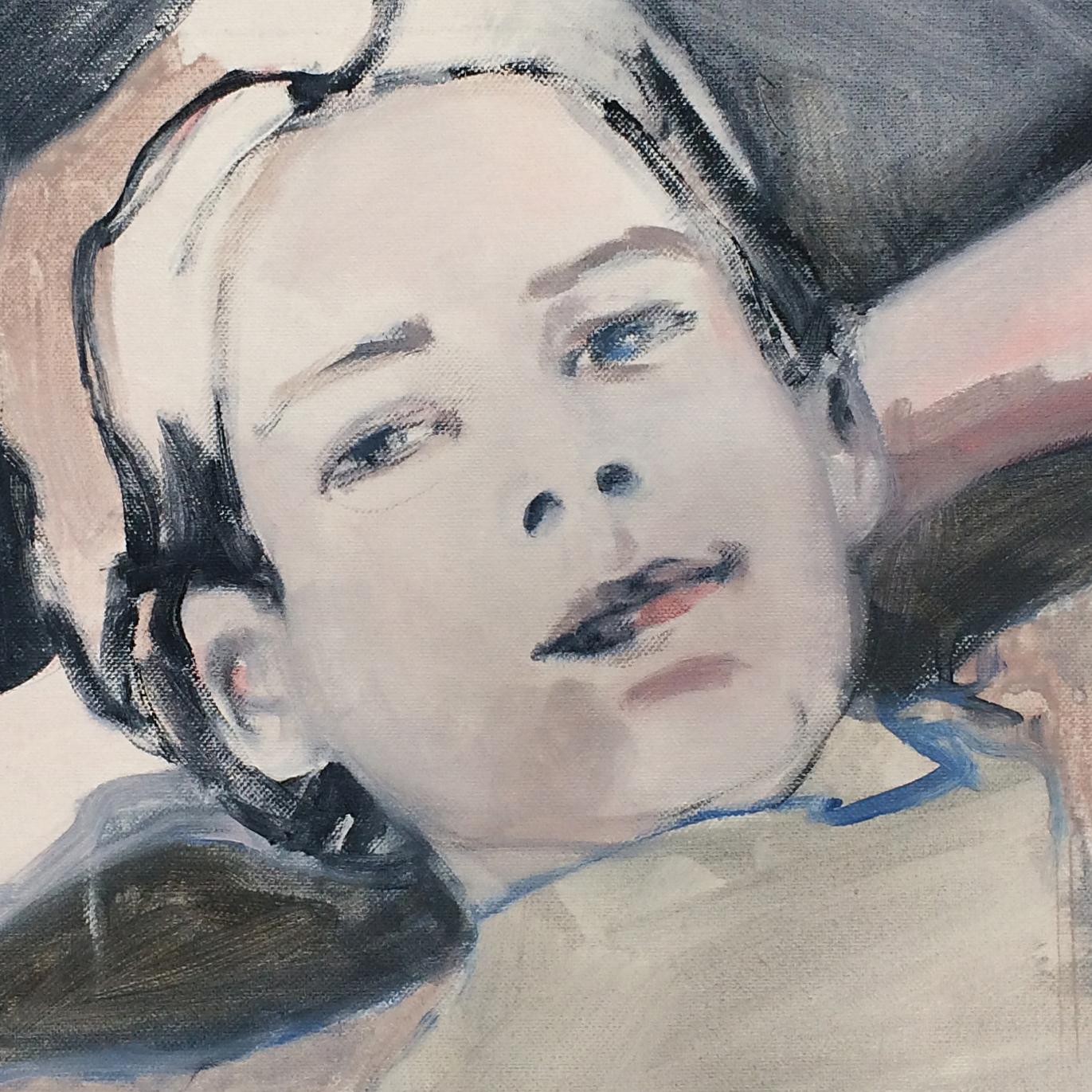 The Boy 30x30cm acrylics on canvas #SOLD