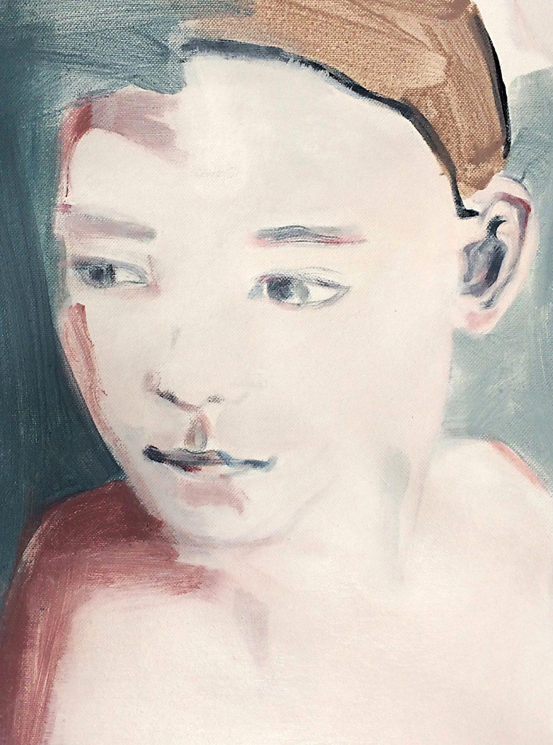 the boy 31x23cm acrylics on canvas