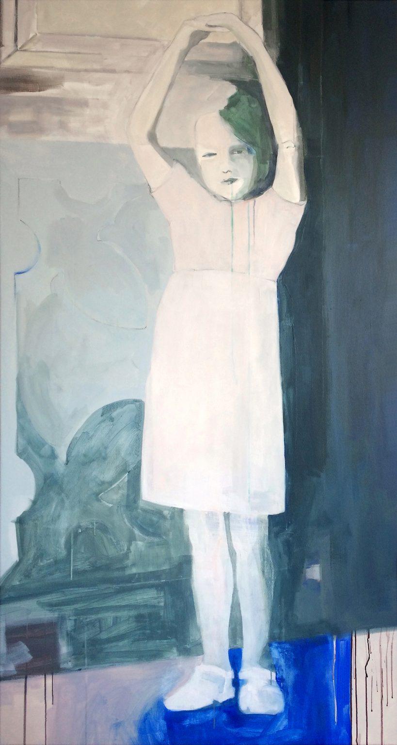 Caroline 190x100 cm acrylics on canvas #SOLD