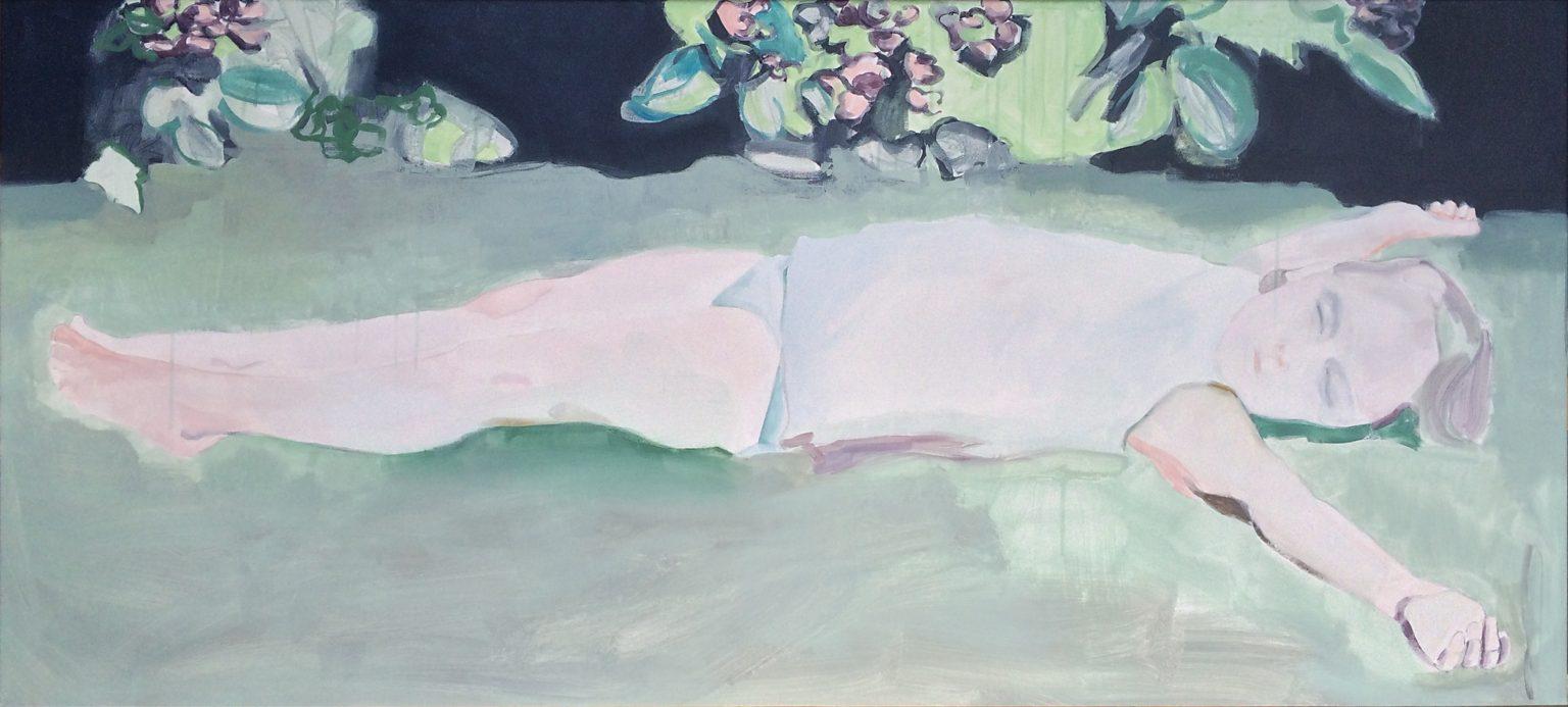 lazy monday 70x155 cm acrylics on canvas #SOLD