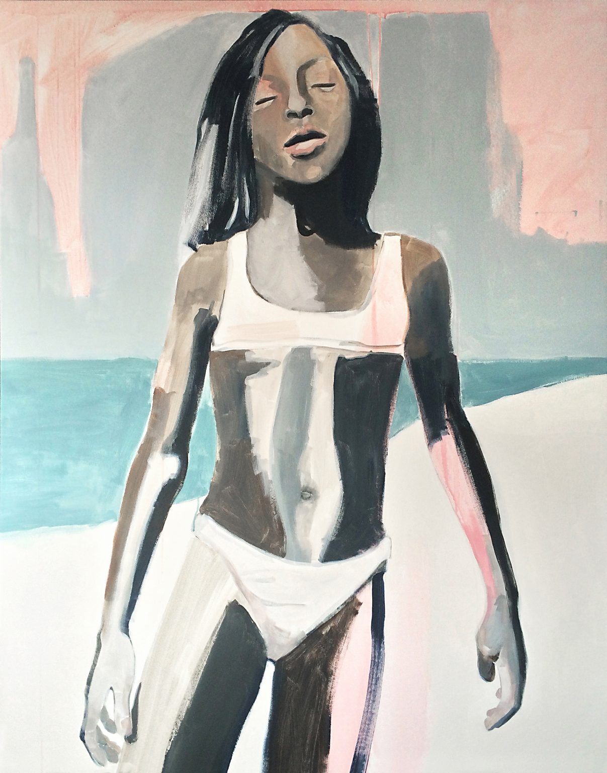 Sand 140x110 cm acrylics on canvas