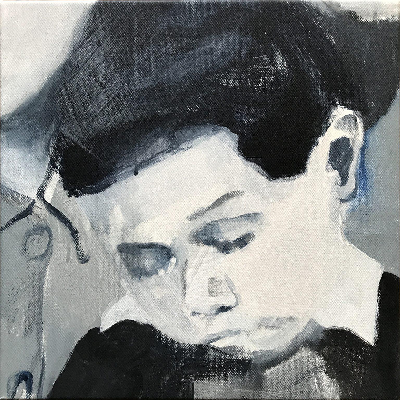 Claude 40x40 cm acrylics on canvas